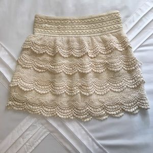 Flirty Lace Layered Mini Skirt